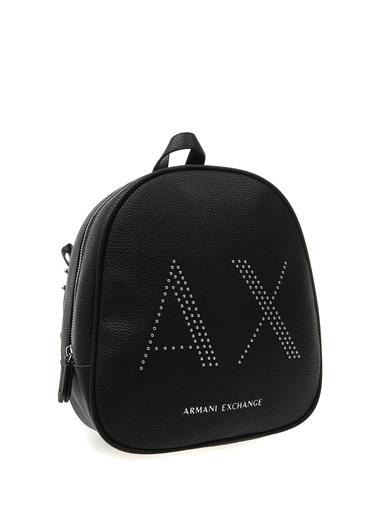 Armani Exchange Armani Exchange Logo Baskılı Sırt Çantası Siyah